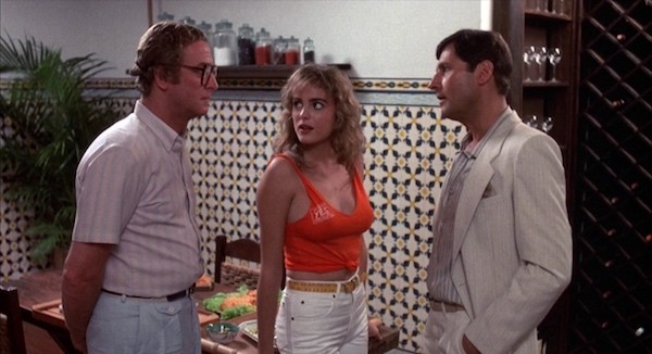 Michael Caine, Michelle Johnson and Joseph Bologna in Blame It on Rio (Photo: Kino & MGM)