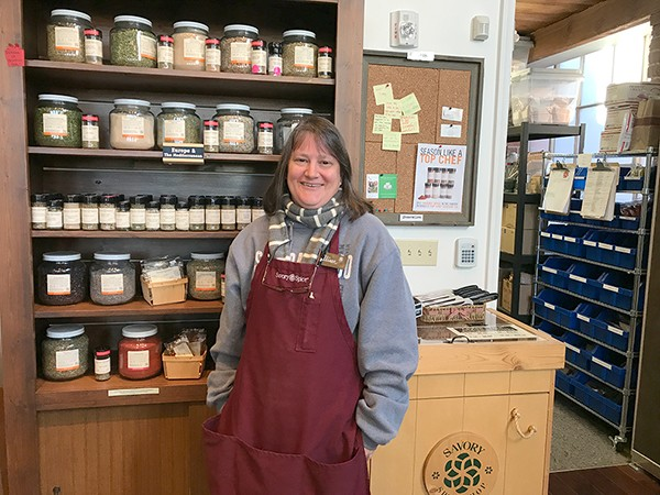 Alison Leininger at Savory Spice Shop. (Photo by Mark Kemp)