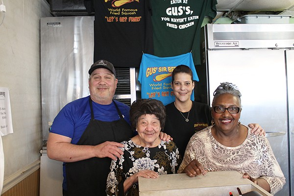 Thrace Bacogeorge [from left], Gus' widow Calliope Bacogeorge and longtime employees Jessica Broome and Matty Stinson.
