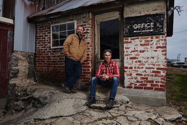 Frank Fritz (left) and Mike Wolfe want to sift through your junk.