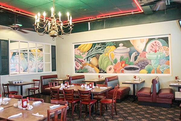 A smorgasbord awaits Skyland customers, on the walls and the menu. (Photo by Alexandria Sands)