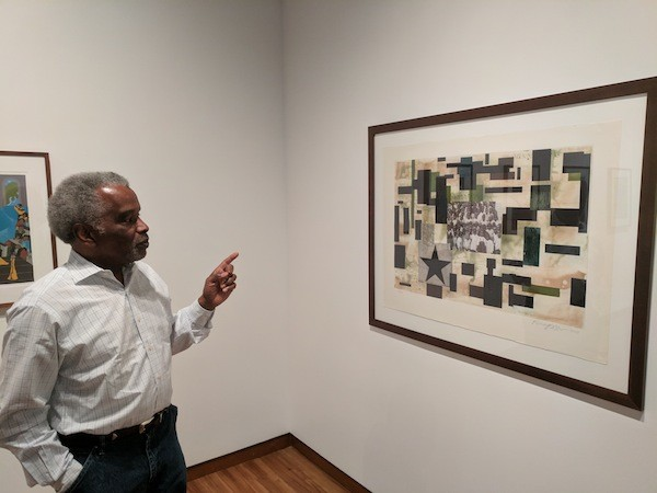 """Patrick discusses Radcliffe Bailey's """"In the Garden."""""""