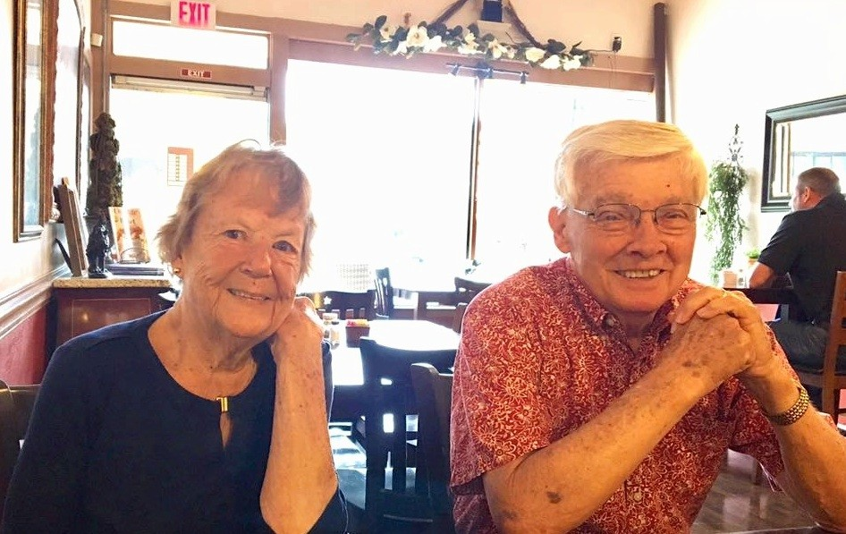 Mom and Dad last May at their favorite Asheboro soul food restaurant, Magnolia.