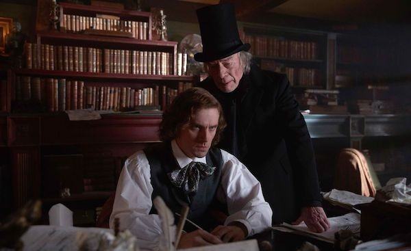 Dan Stevens and Christopher Plummer in The Man Who Invented Christmas (Photo: Universal & Bleecker Street)