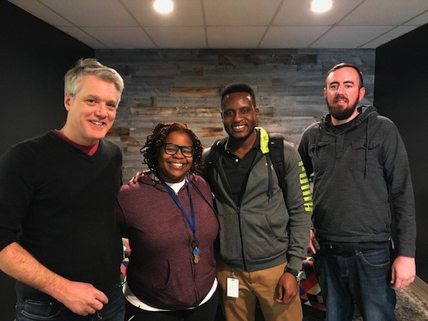 [Left to right] Mark Kemp, April Hood, Ifeanyi Ibeto and Ryan Pitkin