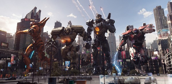 Saber Athena, Bracer Phoenix, Gipsy Avenger and Guardian Bravo in Pacific Rim Uprising (Photo: Universal)