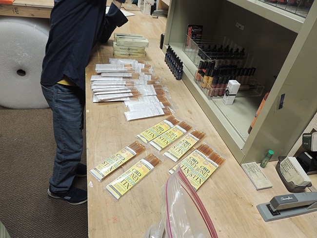 The Charlotte CBD counts out CBD Honey Stix they purchased from CHC for their new dispensary.