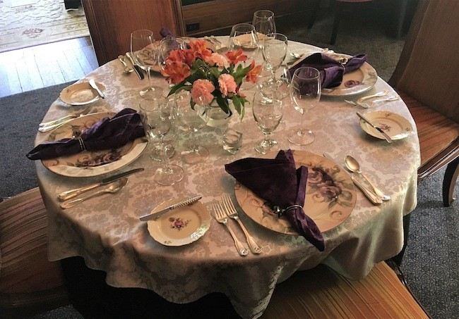 A table setting at McNinch.