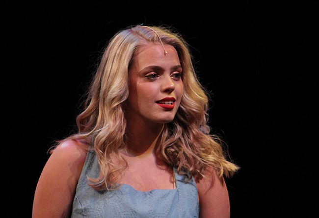 Rapp performs at the Blumey Awards on May 20. she took home best actress for her role in 'Big Fish.' (Photo by Daniel Coston)