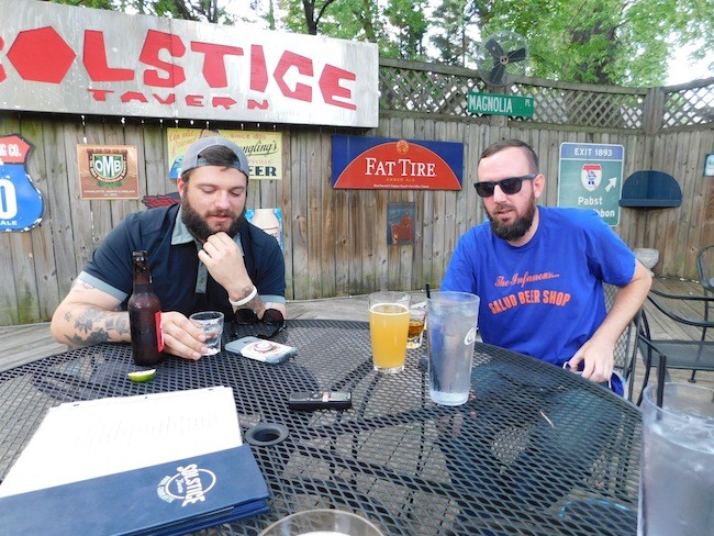 Justin LaFrancois (eft) and Ryan Pitkin