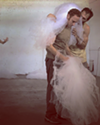 Jon Prichard and Will Rudolph contemplate a bolt of tulle. (Photo Courtesy of XOXO)