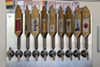 There are nine drafts available at Thirsty Nomad Brewing. Eight of which are in-house brews, with the last one a guest cider from GoodRoad Ciderworks. (Photo by Courtney Mihocik)