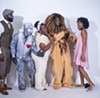 "From left: Kineh N'gaojia as Miles, Elijah Ali as Tin man,  Ruby Edwards as LaDawn, Tony Massey as Lion and Nailyah Gardner as Dorothy. Photo by Josh ""J Sweat"" Nwakerendu."