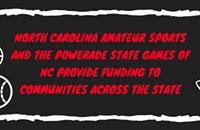 NC Amateur Sports and the Powerade State Games of NC Provide Funding to Communities across the State