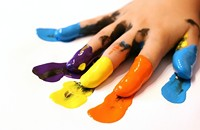 Finger Painting Grown-Up Style