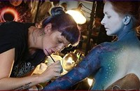 Live Painting, Fine Art BODY PAINTING, Living Art America Challenge