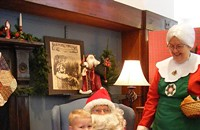 Santa and Mrs. Claus Visit the Museum