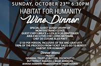 Habitat For Humanity Wine Dinner