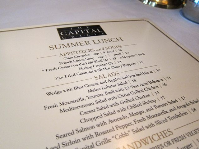 The Capital Grille, 6/7/11