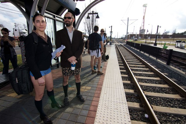 No Pants Light Rail Ride