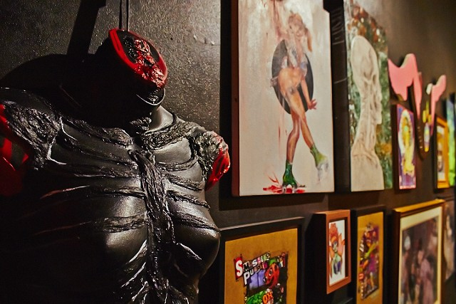 Ghoulish exhibit opening, 10/11/14