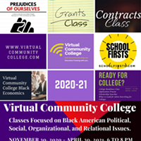 Virtual Community College (VCC) offers a number of wonderful classes that focus on social relations, political issues, relational growth, and economic growth.