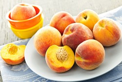 Peaches on a plate - Uploaded by ajnewso2