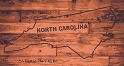 """North Carolina map on wood with """"A Better Place To Be"""" motto - Uploaded by ajnewso2"""