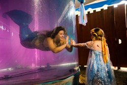 Enchanting live mermaids swim and delight at CRF! - Uploaded by MarkAsst