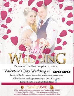 Valentine's Day Pop Up Wedding - Uploaded by Events9506