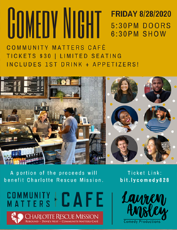 Comedy Night at Community Matters Cafe - Flyer - Uploaded by BeerlyFunny