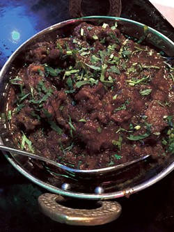 Goat curry from the King of Spicy. (Photo by Tricia Childress)