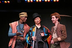 Tyson Hamilton, Larry Wu and Kyle Willson in Rosencrantz & Guildenstern Are Dead. (Photo by Chris Record)