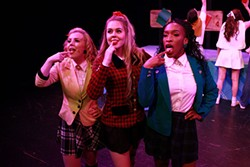 L-R: Ava Smith, Tessa Belongia and Nonye Obichere in QCTC's Heathers: The Musical. (Photo by George Hendricks)