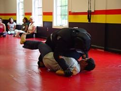 MELISSA APPLE - Urban Explorer Calloway kicks some padded ass (sort of) at P3 self-defense training