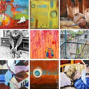 Various artwork in the Serendipity exhibit.