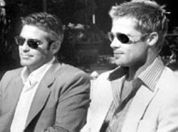 VEGAS COOL George Clooney  and Brad Pitt look at - the bright side in Ocean's Eleven
