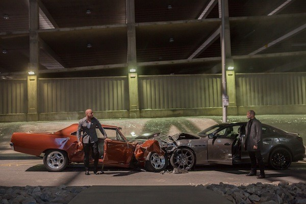 Vin Diesel and Jason Statham in Furious 7 (Photo: Universal)