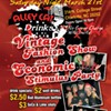 Vintage fashion show Saturday night!
