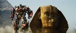 PARAMOUNT PICTURES - WALK LIKE AN EGYPTIAN: Optimus Prime prepares for battle in Transformers: Revenge of the Fallen.