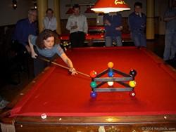 WWW.KEYDECK.COM - Wanna be a shark, first you hafta practice: Free pool every day at Elizabeth Billiards.