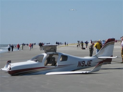 WARNING: A  jogger in Hilton Head, S.C. was hit by a plane, which was trying to land on the beach.