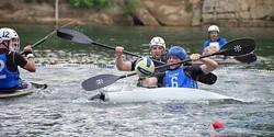 ADRIAN DAVIS - WATER, WATER EVERYWHERE: The Carolina Kayak Polo Club (in blue) in action