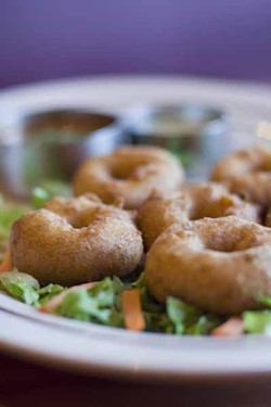 ASHLEY GOODWIN - WEEKEND WOWZER: Bronzed lentil doughnuts