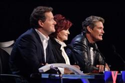NBC PHOTO: BRIAN KENISON - WHAT QUALIFIES THEM TO JUDGE?: Talent's Piers Morgan, Sharon Osborne and David Hasselhoff