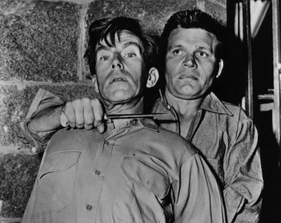Whit Bissell and Neville Brand in Riot in Cell Block 11 (Photo: Criterion Collection)