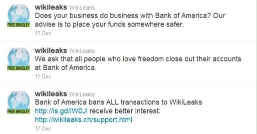 WikiLeaks BofA Twitter