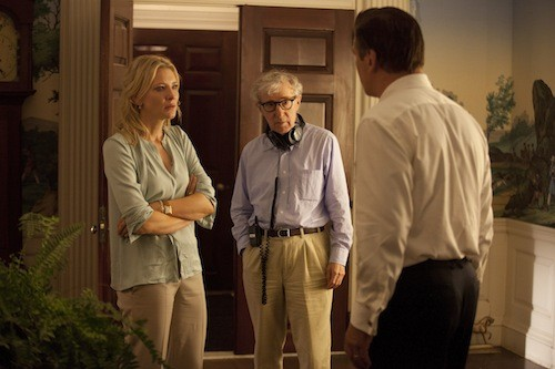 Woody Allen with Cate Blanchett and Alec Baldwin on the set of Blue Jasmine. (Photo: Sony Pictures Classics)