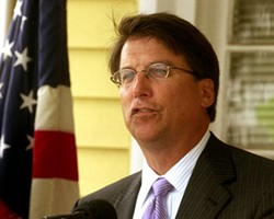 PHOTO BY CHRIS RADOK - WORST MEMBER OF LOCAL GOVERNMENT: Mayor Pat McCrory