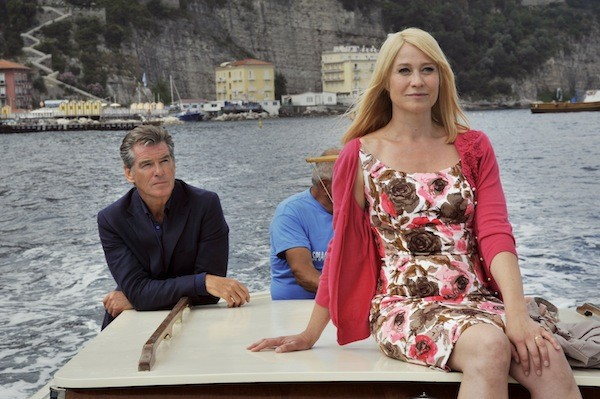 WORTH THE TRIP: Ida (Trine Dyrholm) admires the scenery while Philip (Pierce Brosnan) admires Ida in Love Is All You Need. (Photo: Sony Pictures Classics)